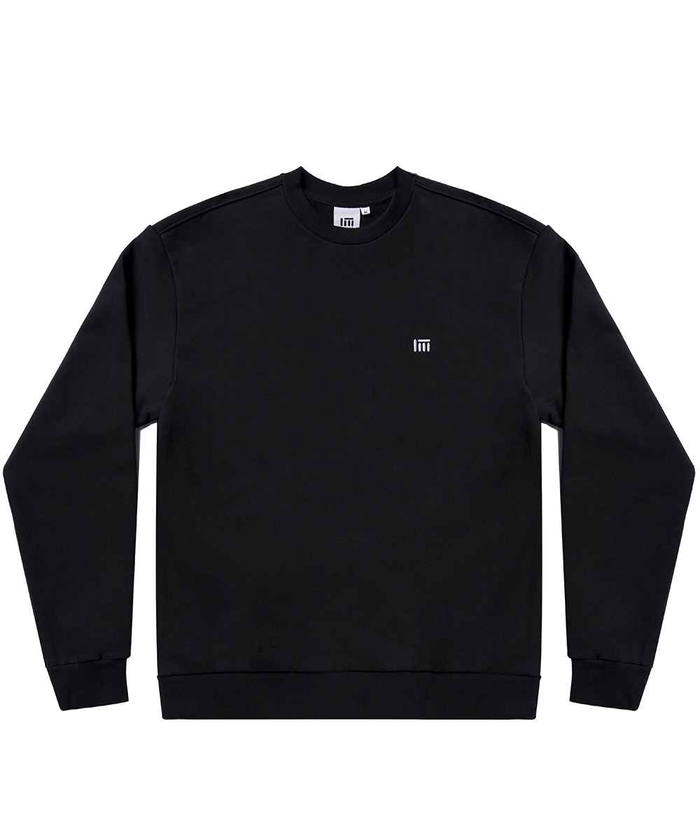 SIMPLE LOGO SWEAT SHIRT [BLACK]