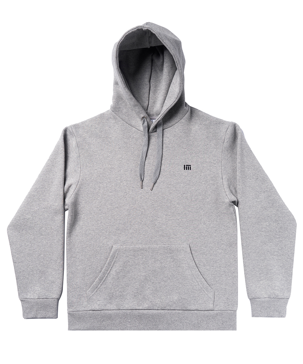 SIMPLE LOGO HOODIE SHIRT [GRAY]