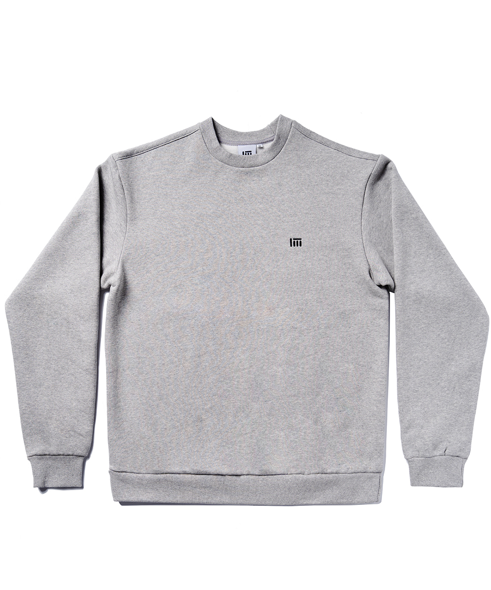SIMPLE LOGO SWEAT SHIRT [GRAY]