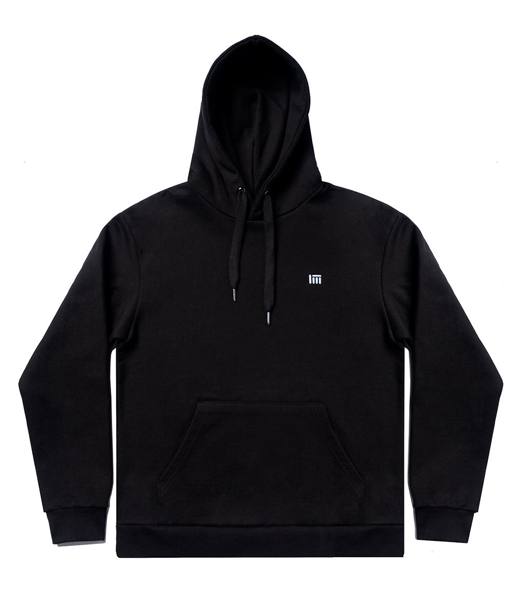 SIMPLE LOGO HOODIE SHIRT [BLACK]